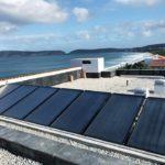 Solar heating for geysers
